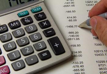 Kalkulator, którym odliczane są rachunki
