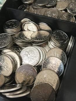 MOnety 10-cio i 20-to groszowe w kasie