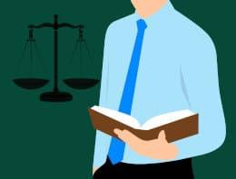rysunek przedstawiający prawnika